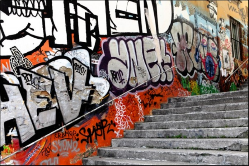 Tags en escaliers © JC Barousse